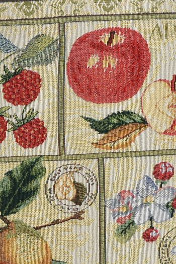 Polycotton Summer Fruits Set of 4 Table Mats, Multicolor