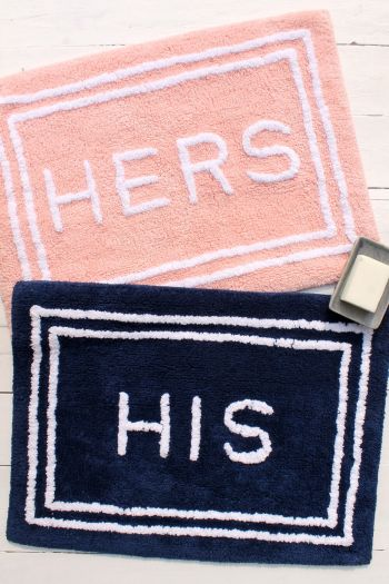 HIS & HER Cotton Mat