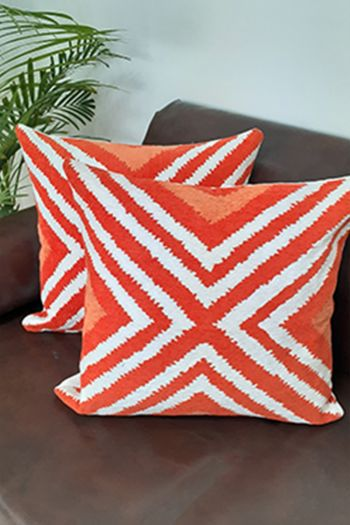 Linear Cushion Covers, Set of 2