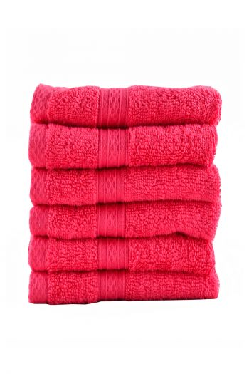 Egyptian Cotton Face Towel, Set of 6