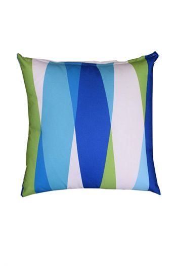 Geo Indoor/Outdoor Cushion Covers, Set of 2, Blue, Green & White