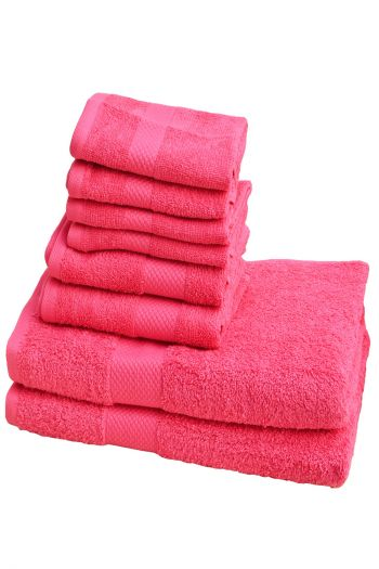 Ultimate Essential Cotton Towels Set, Pink