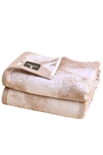 Distressed Cotton Hand Towels, Brown