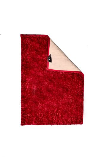 Shimmer Bathmat with Anti Slip, Red