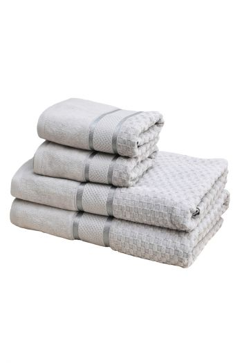 Spa Classic Towel Set with Velour, Grey