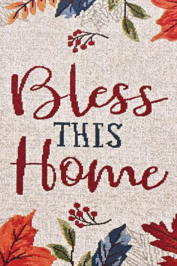 Bless This Home Kitchen Rug with Anti Slip, Multicolor