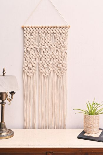 Crochet Wall Hanging, Cream