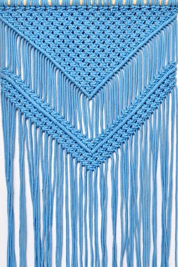 Crochet Wall Hanging , Blue