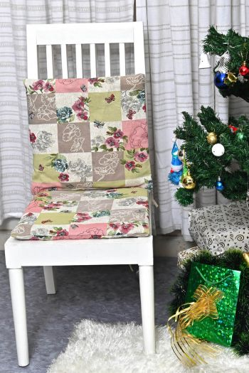Spring Chair Pad & Chair Cushion - Set of 2, Multicolor