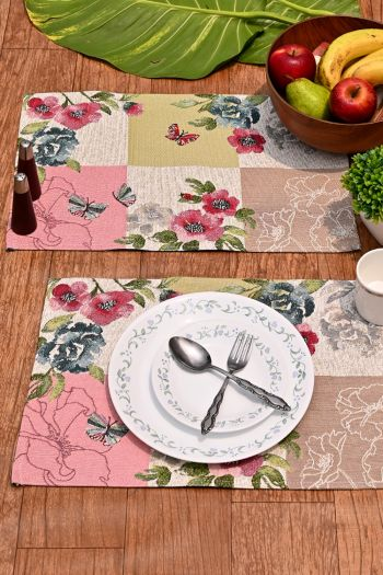Spring Dining Table Mats Set of 4, Multicolor