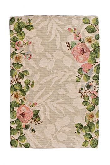 Floral Delight Dining Table Mats Set of 4, Pink