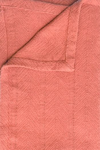 Camrose BCI Cotton Throw with Tassles, Rust