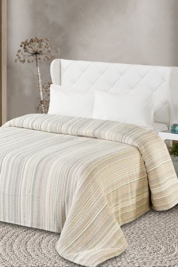 Maple King Size Cotton Blanket, Multicolor