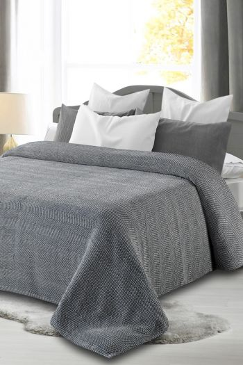 Richmond BCI Cotton Blanket, Grey & White