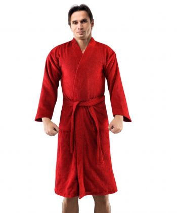 Bathrobe for Men & Women, Medium, Red