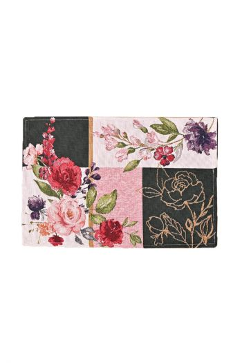 Floral Night Table Mat Set - 6 Table Mats & 1 Runner, Multicolor