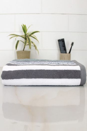 Streak Cotton 540 GSM Bath Towel