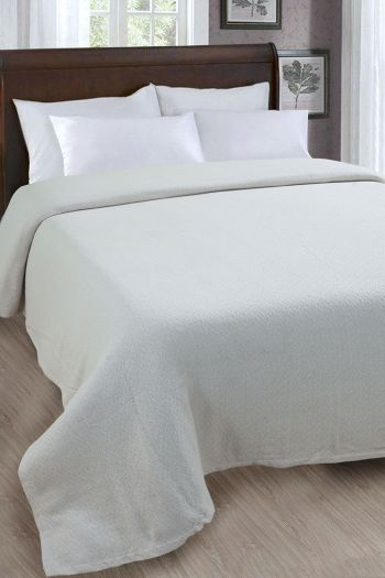 "Braid Texture Cotton Blanket, 90"" x 90"", Storm"
