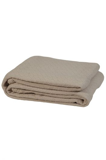 "Honeycomb Cotton Blanket, 90"" x 90"", Taupe"