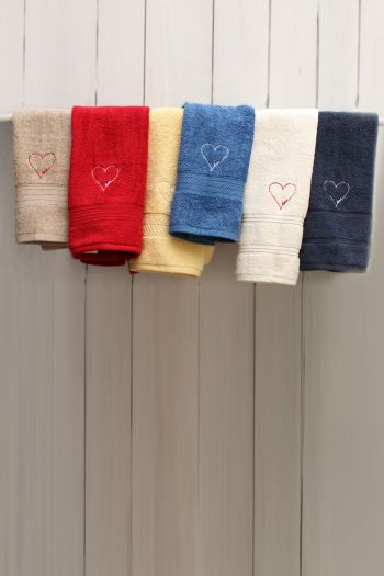 Love Embroidered Hand Towels, Set of 2