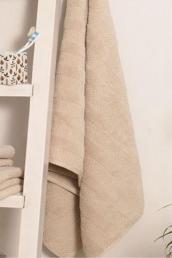 Textured Cotton His & Her Towels Set