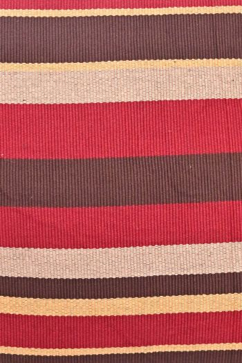 Stripe Reversible Outdoor Cushion Cover, Red & Brown