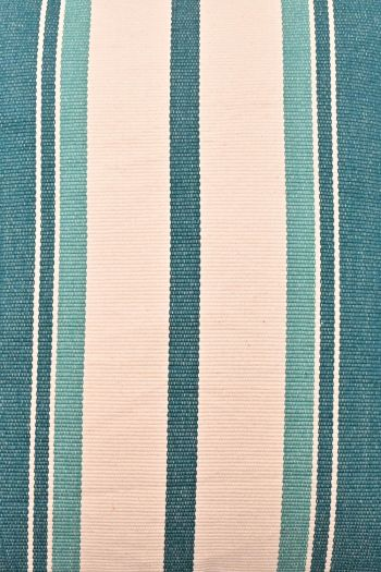 Stripe Reversible Outdoor Cushion Cover, Turquoise Blue & White