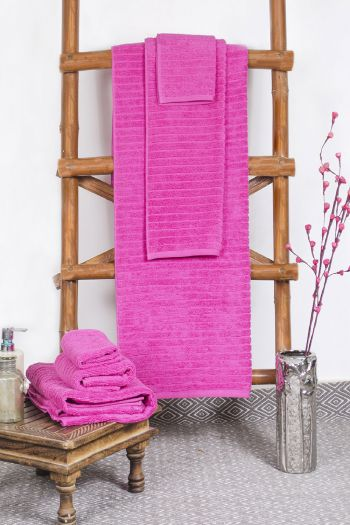Ribbed Zero Twist Cotton Towels Set