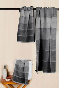 Ombre Towel Set, Grey