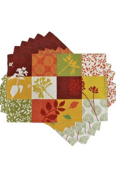 Multichecks Table Mats & Runner Set, Orange