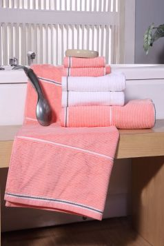 Textured Ribbed Towel Set